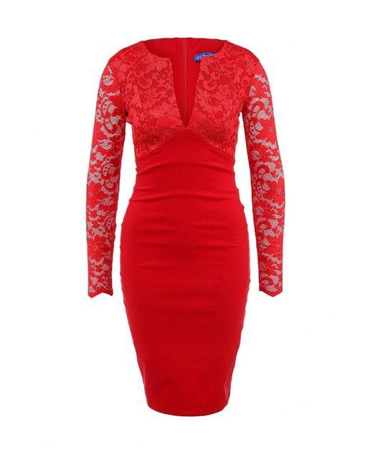 Goddiva   Женское Красное Платье
