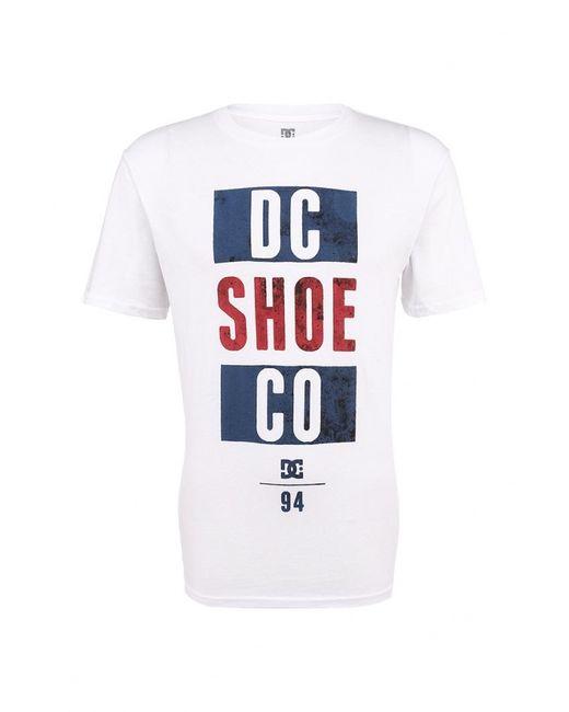 Dcshoes   Мужская Белая Футболка Dc Shoes