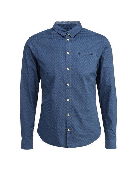 Blend   Мужская Синяя Рубашка