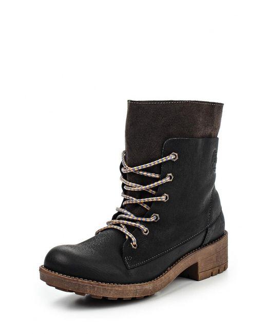 Coolway | Женские Чёрные Ботинки