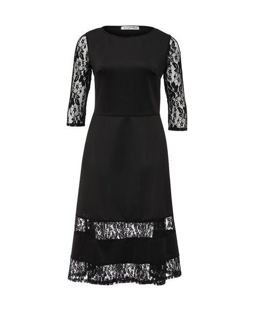 Amplebox | Женское Чёрное Платье