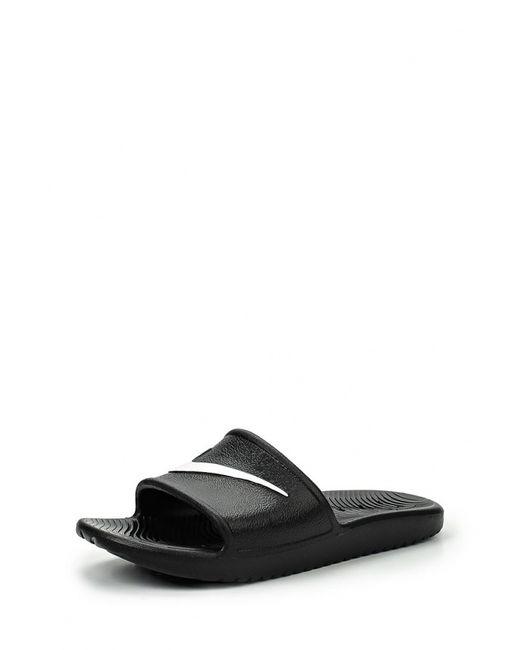 Nike | Женские Чёрные Сланцы