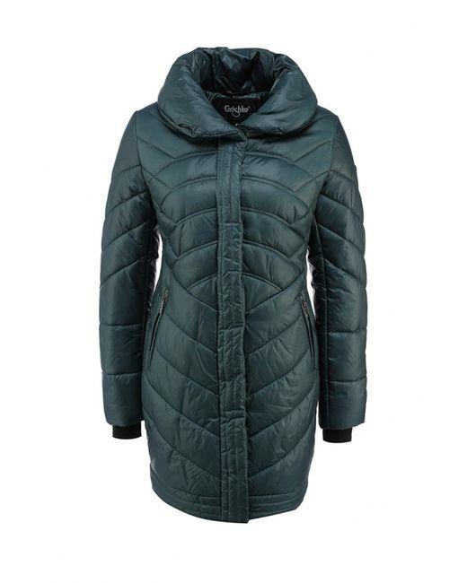 Grishko | Женская Зелёная Куртка Утепленная