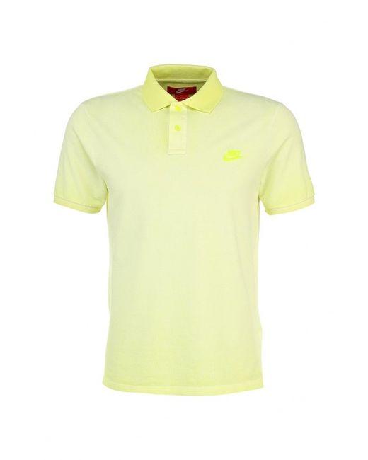 Nike | Мужское Жёлтое Поло