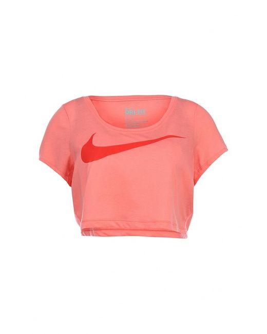 Nike | Женская Розовая Футболка Спортивная