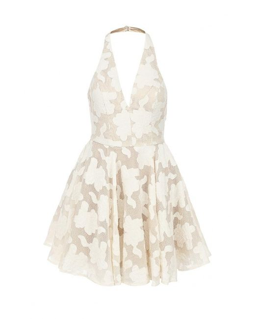 Bebe | Женское Молочное Платье