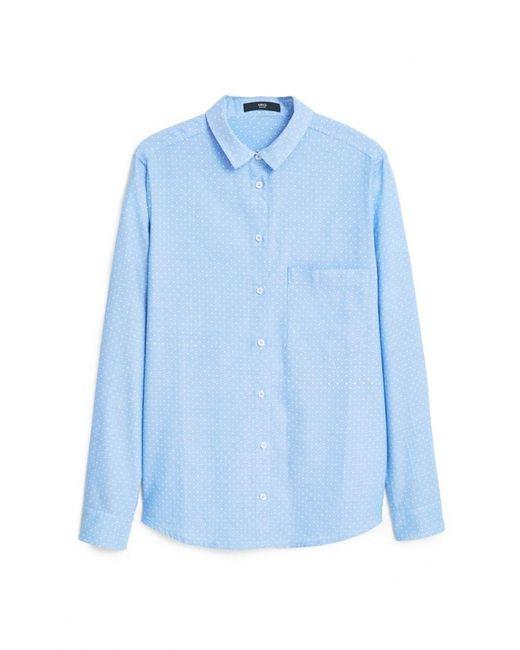 Mango | Женская Голуба Рубашка