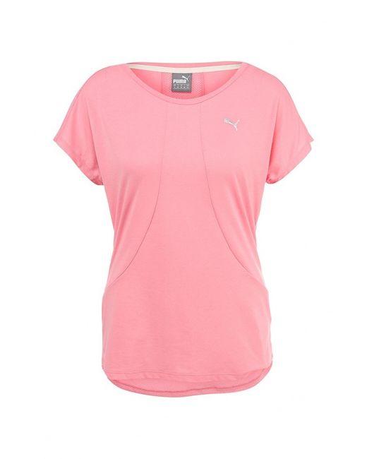 Puma | Женская Розовая Футболка Спортивная