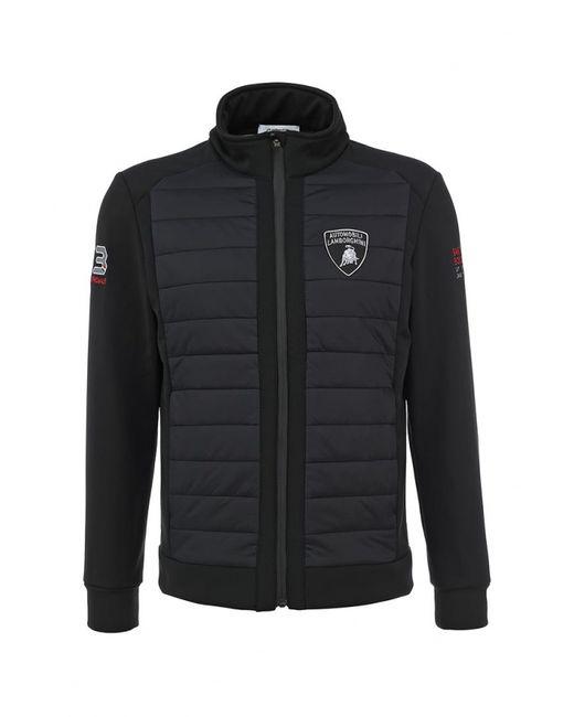 Automobili Lamborghini   Мужская Чёрная Куртка Утепленная
