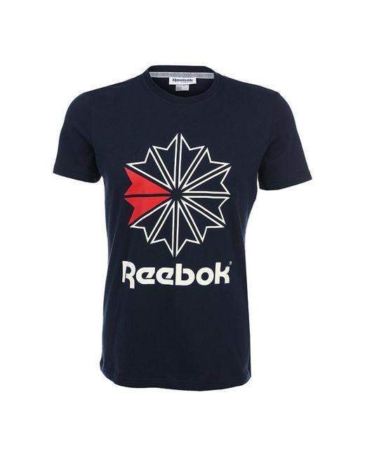 Reebok Classics | Мужская Синяя Футболка