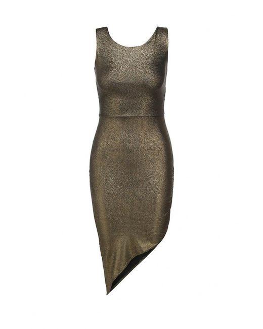 Edge Clothing   Женское Золотое Платье
