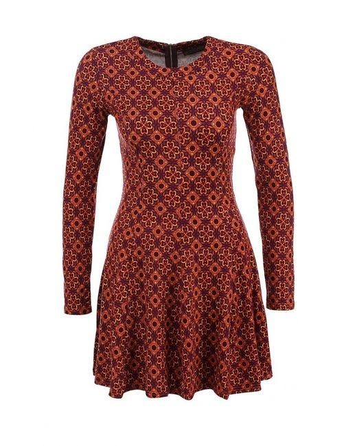 Qed London   Женское Оранжевое Платье