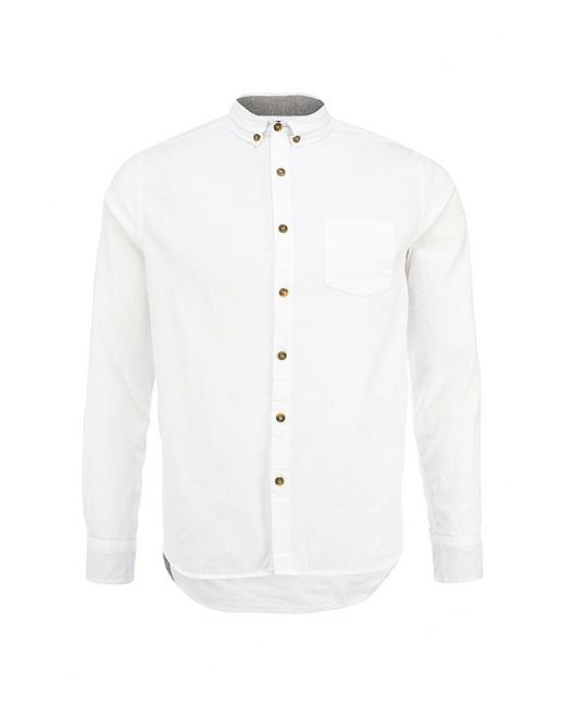 D-Struct | Мужская Белая Рубашка