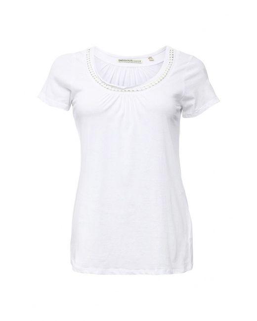 Emoi Size Plus   Женская Белая Футболка