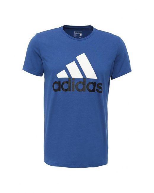 adidas Performance   Мужская Синяя Футболка Спортивная