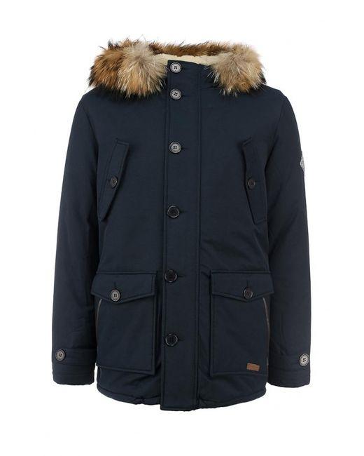Baon | Мужская Синяя Куртка Утепленная