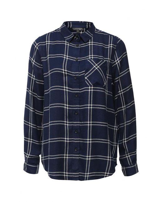 Topshop   Женская Синяя Рубашка
