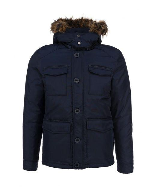Top Secret | Мужская Синяя Куртка Утепленная