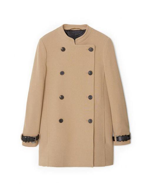 Mango | Женское Бежевое Пальто