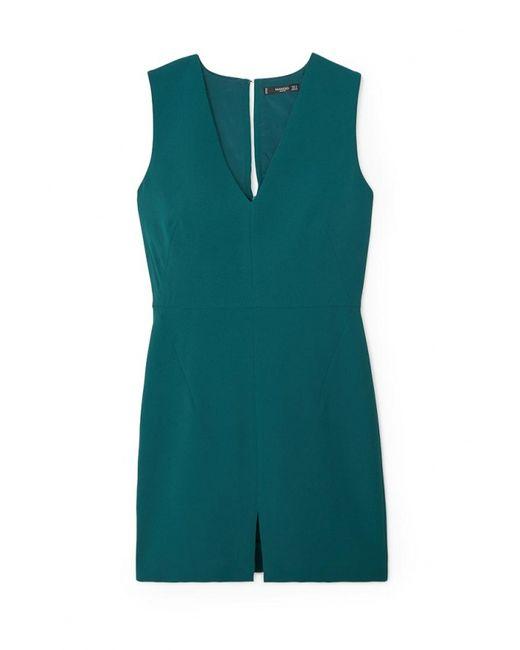 Mango   Женское Зелёное Платье