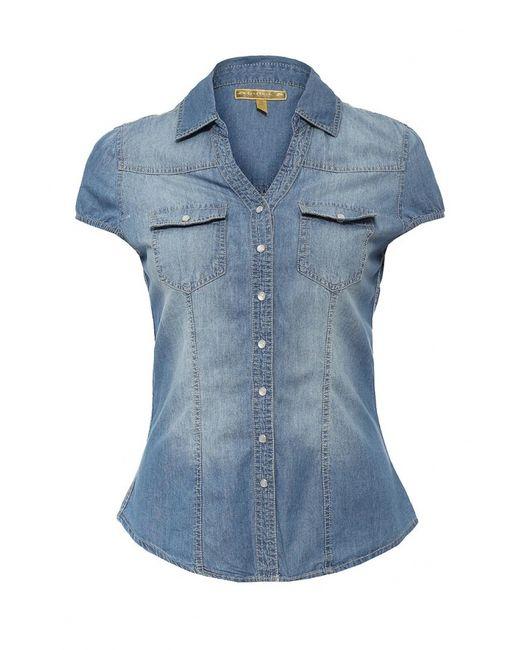 Kruebeck | Женская Голуба Рубашка Джинсовая