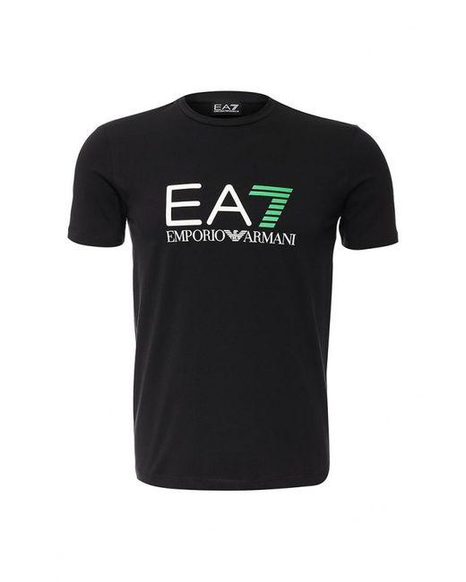 EA7   Мужская Чёрная Футболка