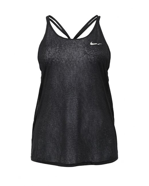 Nike   Женская Чёрная Майка Спортивная