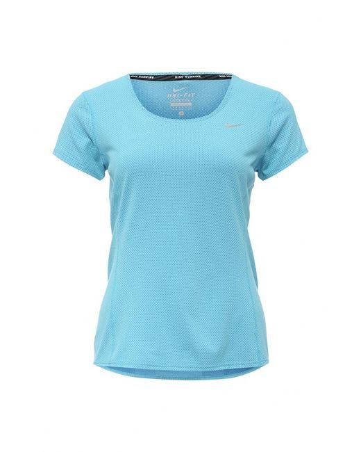 Nike | Женская Голуба Футболка Спортивная