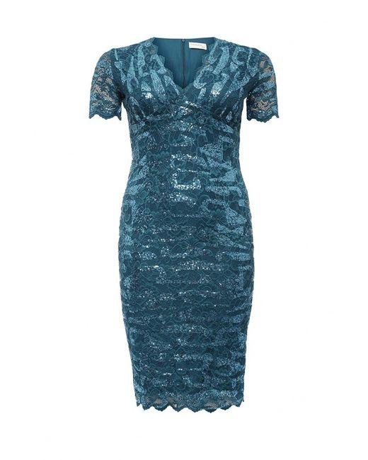 Goddiva Size Plus   Женское Синее Платье