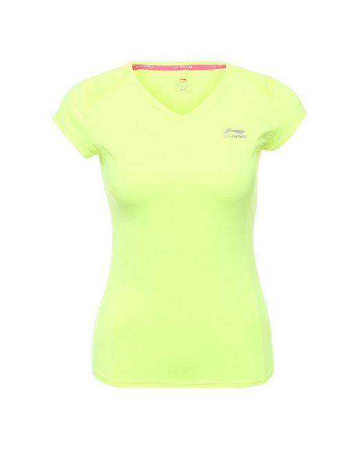 Li-Ning | Женская Жёлтая Футболка Спортивная
