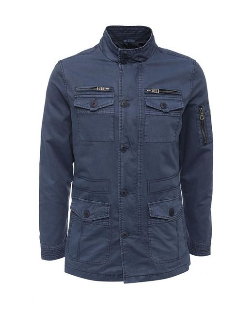 Kruebeck | Мужская Синяя Куртка