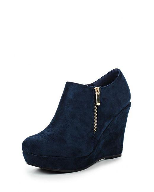 Style Shoes | Женские Синие Ботильоны