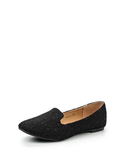 WS Shoes | Женские Чёрные Лоферы
