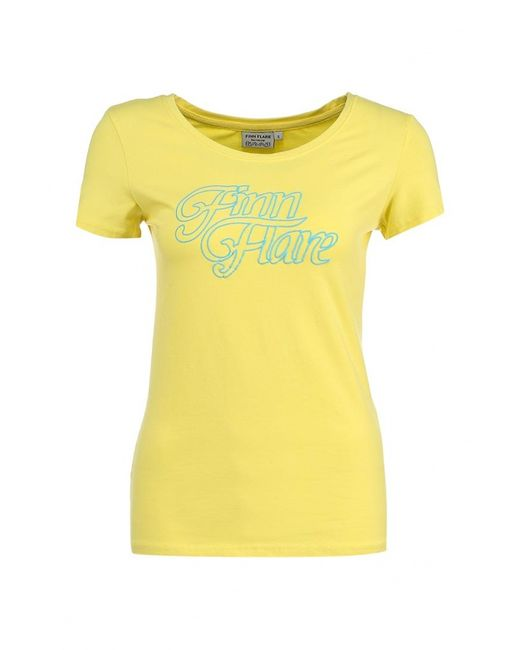 Finn Flare | Женская Жёлтая Футболка