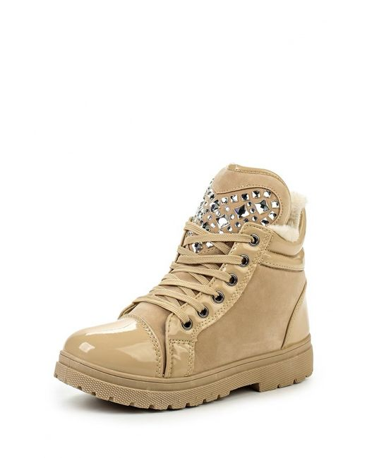 Ideal | Женские Бежевые Ботинки