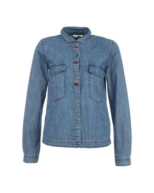Roxy   Женская Синяя Рубашка Джинсовая