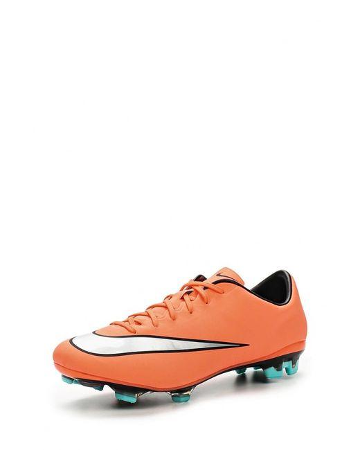 Nike   Мужские Оранжевые Бутсы