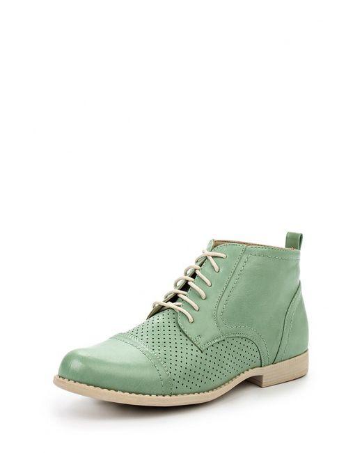 Instreet | Женские Зелёные Ботинки