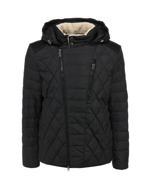 Clasna | Мужская Чёрная Куртка Утепленная