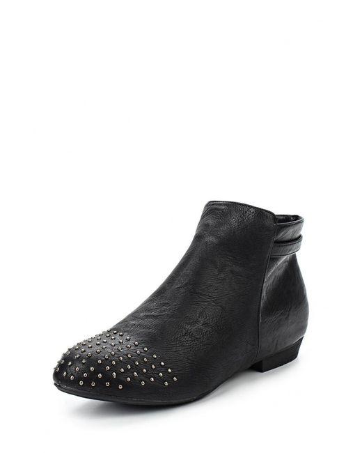 Spot On   Женские Чёрные Ботинки