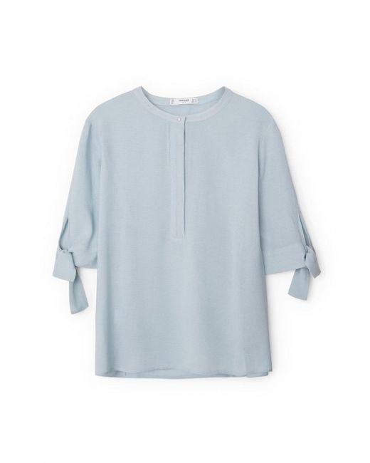 Mango   Женская Голуба Блуза