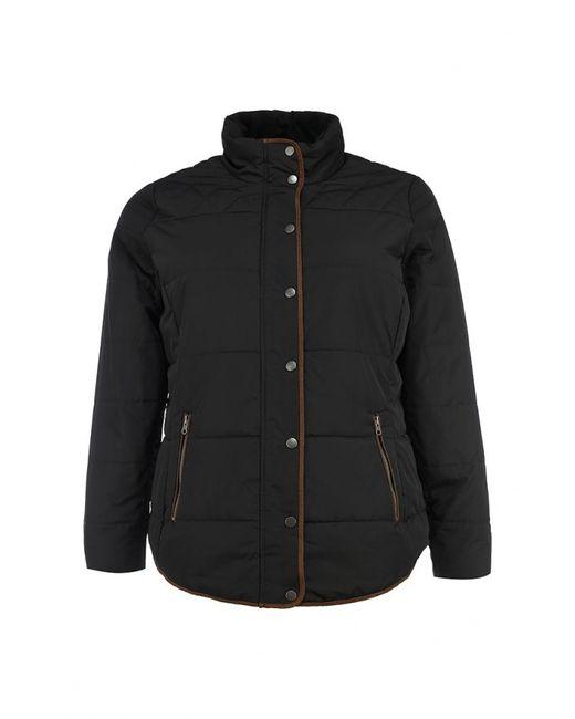 Junarose | Женская Чёрная Куртка Утепленная