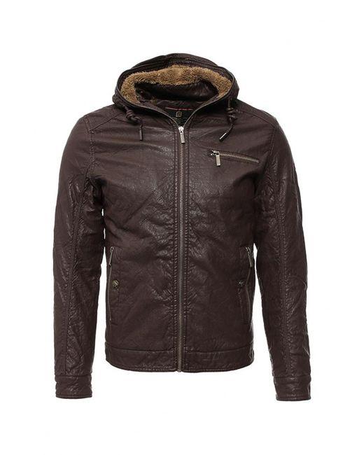 Justboy | Мужская Коричневая Куртка Кожаная