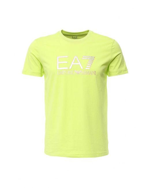 EA7 | Мужская Жёлтая Футболка