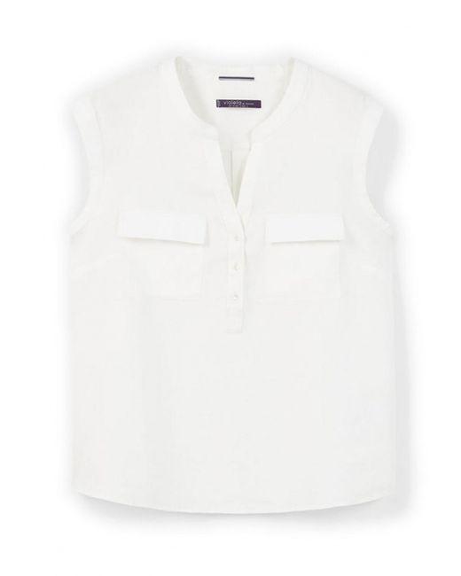 Violeta by Mango | Женская Белая Блуза