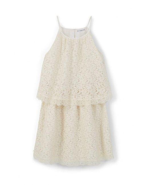 Mango | Женское Бежевое Платье