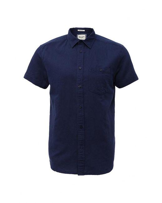 Wrangler   Мужская Синяя Рубашка
