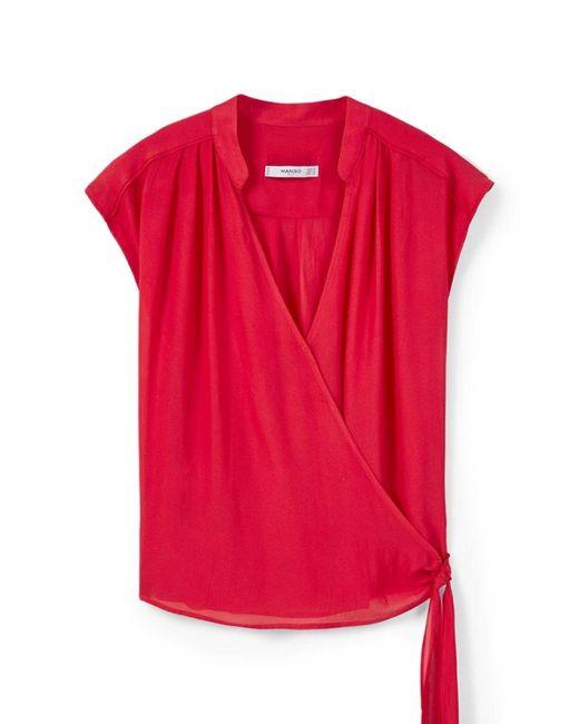 Mango   Женская Розовая Блуза