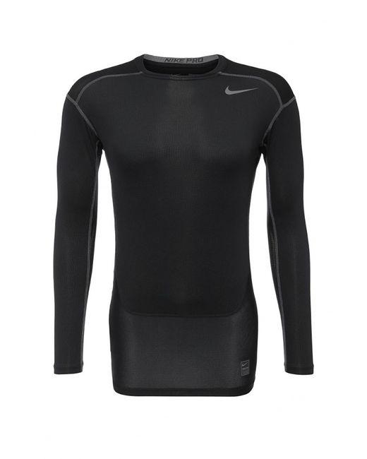 Nike   Мужской Чёрный Лонгслив Компрессионный
