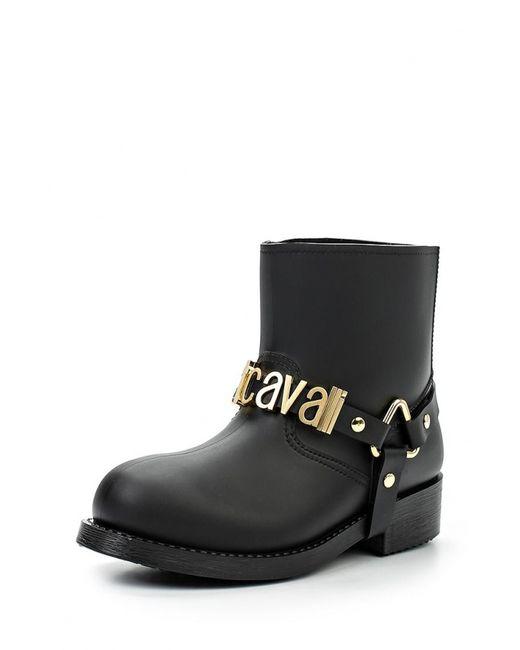Just Cavalli | Женские Чёрные Резиновые Полусапоги